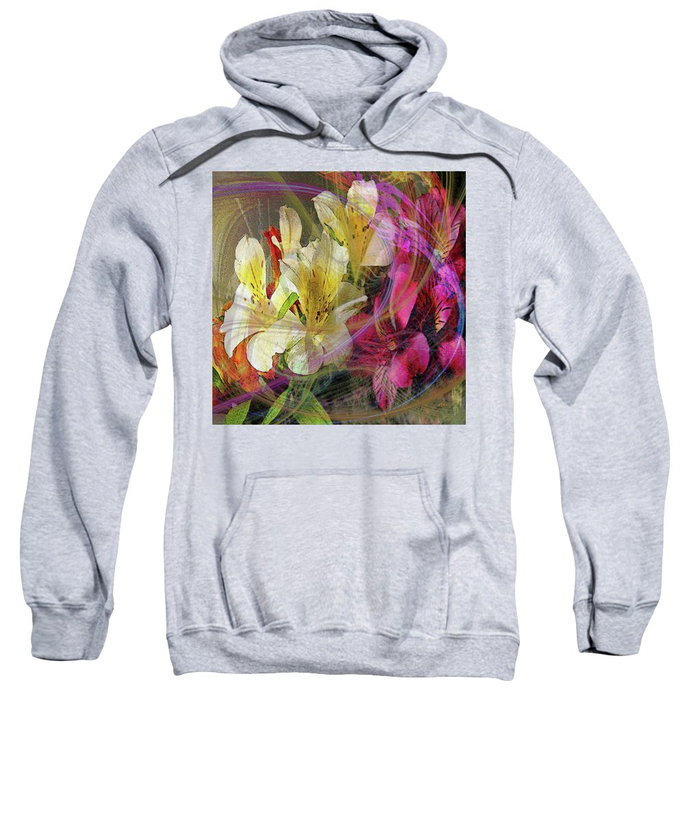 Floral Sweatshirt featuring the digital art Floral Inspiration - Square Version by Studio B Prints