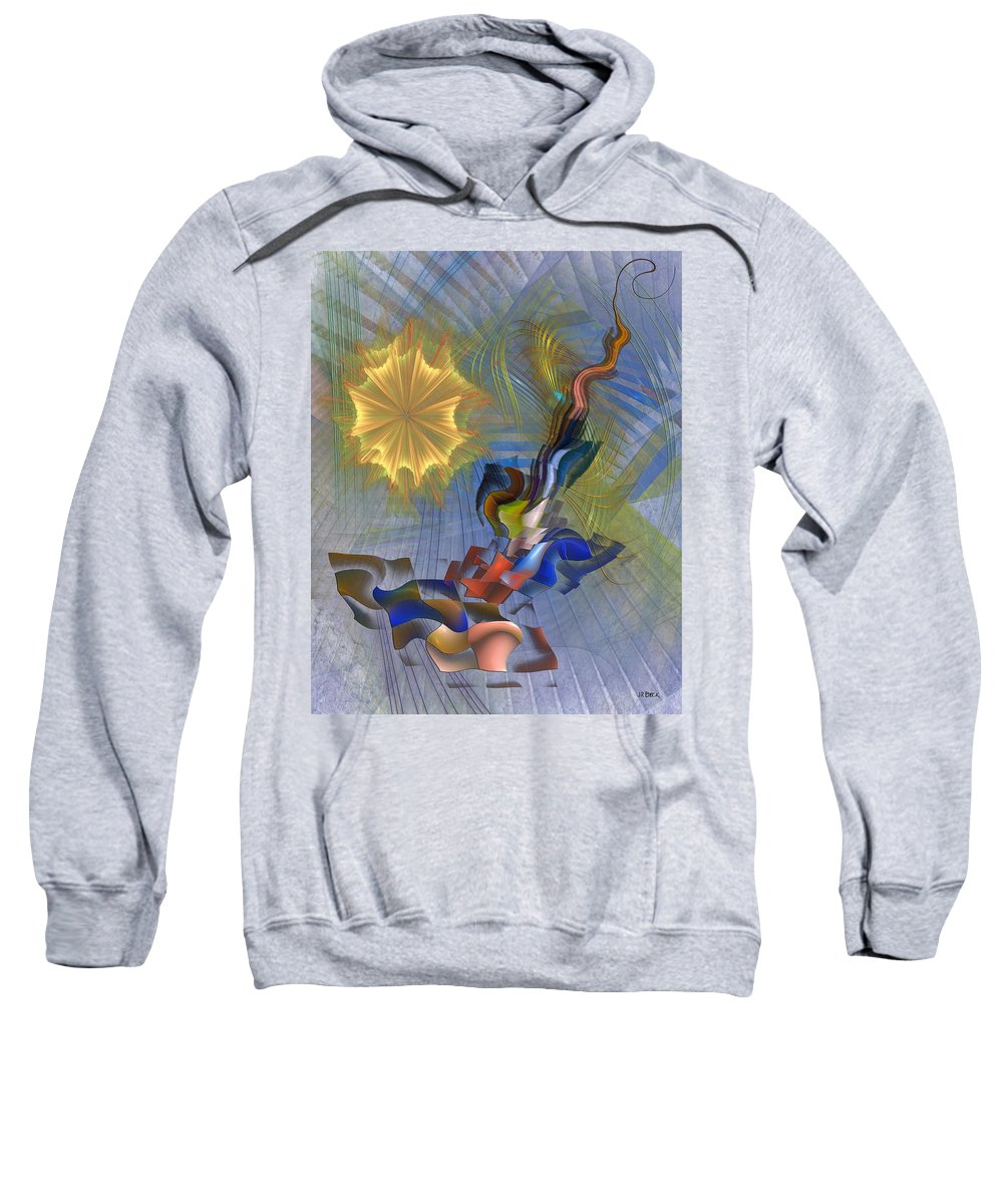 Floral Predator Sweatshirt featuring the digital art Floral Predator by Studio B Prints