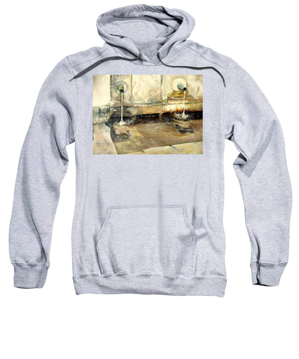 Fuente Sweatshirt featuring the painting Fuente by Tomas Castano