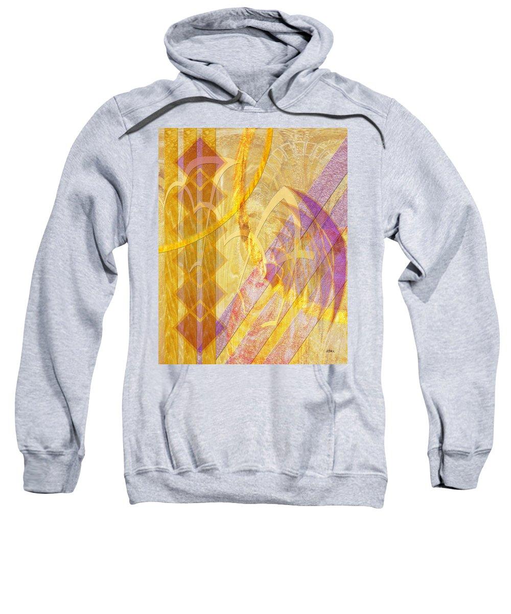 Gold Fusion Sweatshirt featuring the digital art Gold Fusion by John Robert Beck