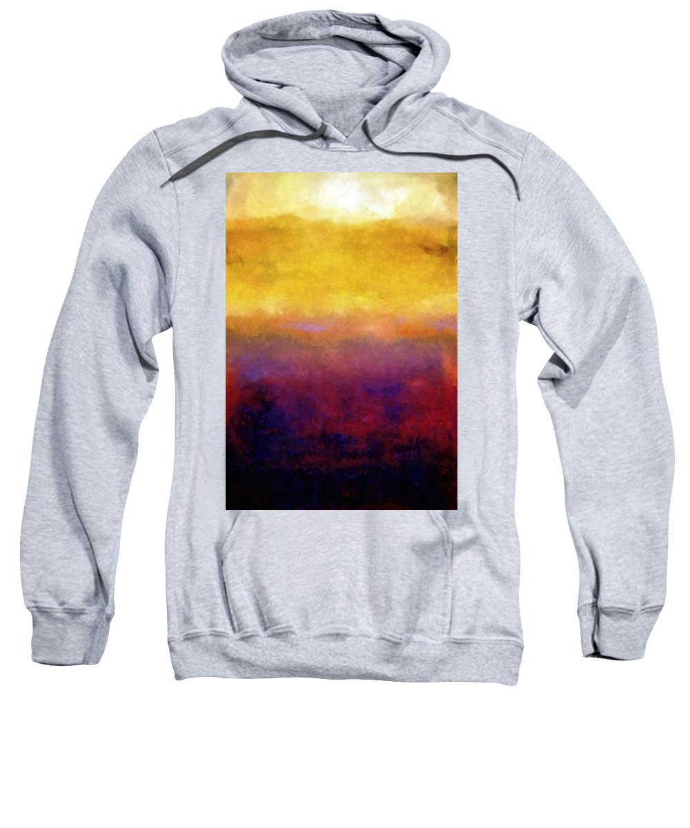 Abstract Sweatshirt featuring the painting Golden Sunset by Michelle Calkins
