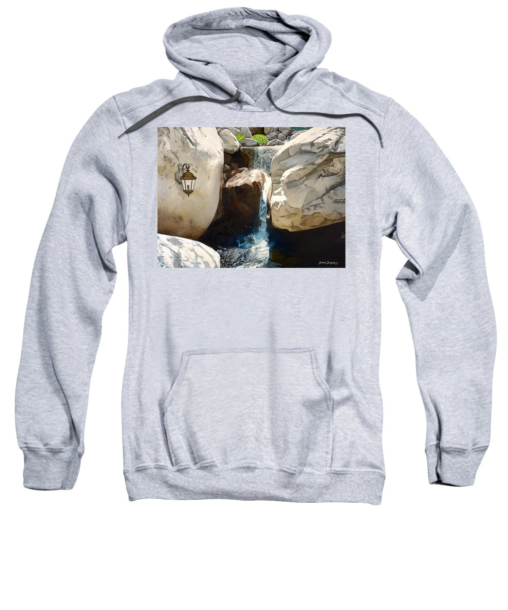 Landscape Sweatshirt featuring the painting Guiding Light by Snake Jagger