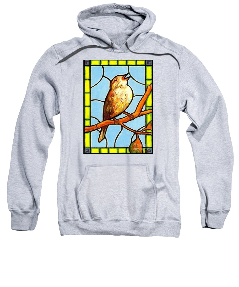 Birds Sweatshirt featuring the painting His Eye Is On the Sparrow by Jim Harris