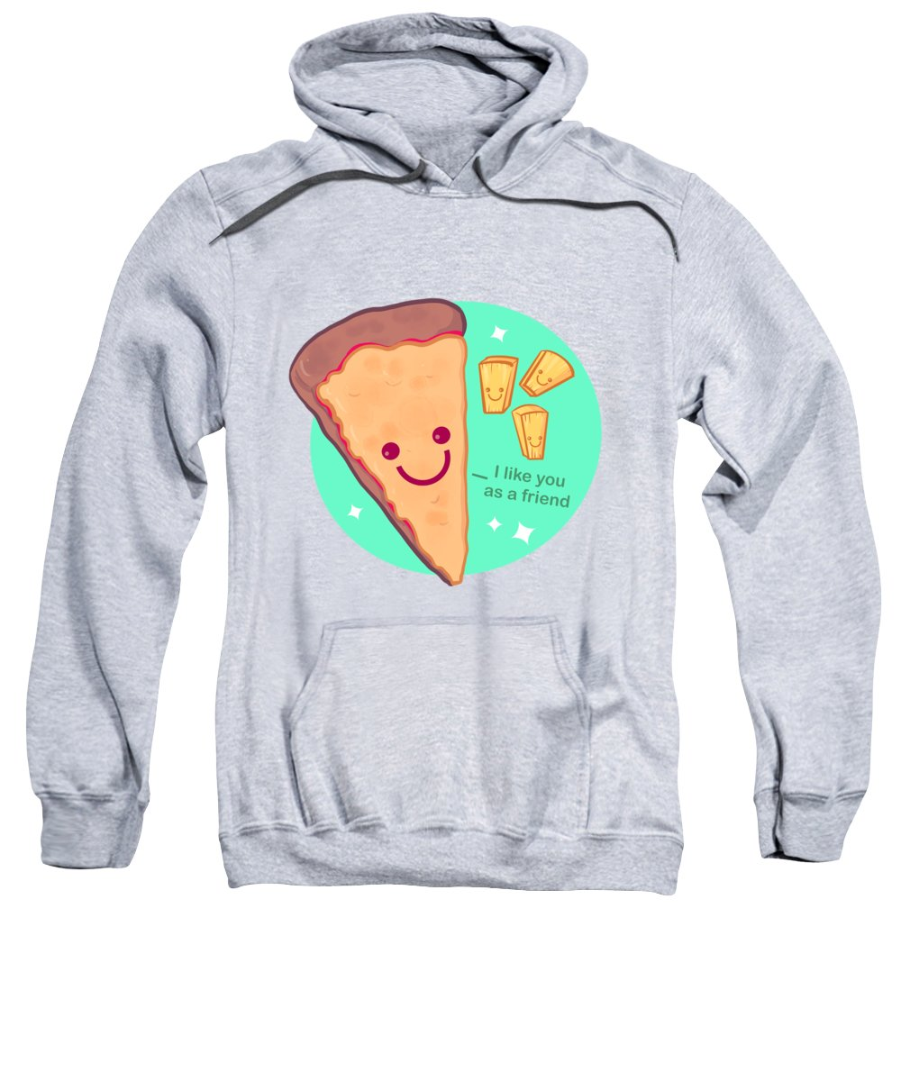 Pineapple Sweatshirt featuring the drawing Just Friends by Ludwig Van Bacon