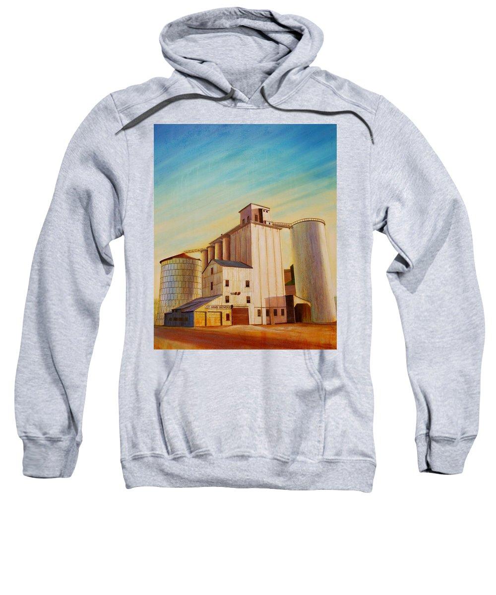 Grain Sweatshirt featuring the painting Latah County Grain Growers by Leonard Heid