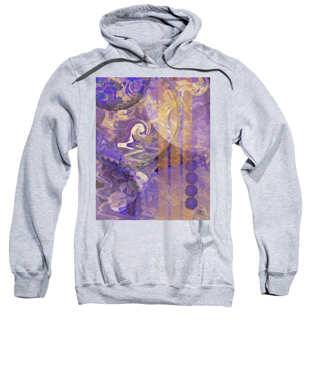 Lunar Impressions Sweatshirt featuring the digital art Lunar Impressions by John Robert Beck