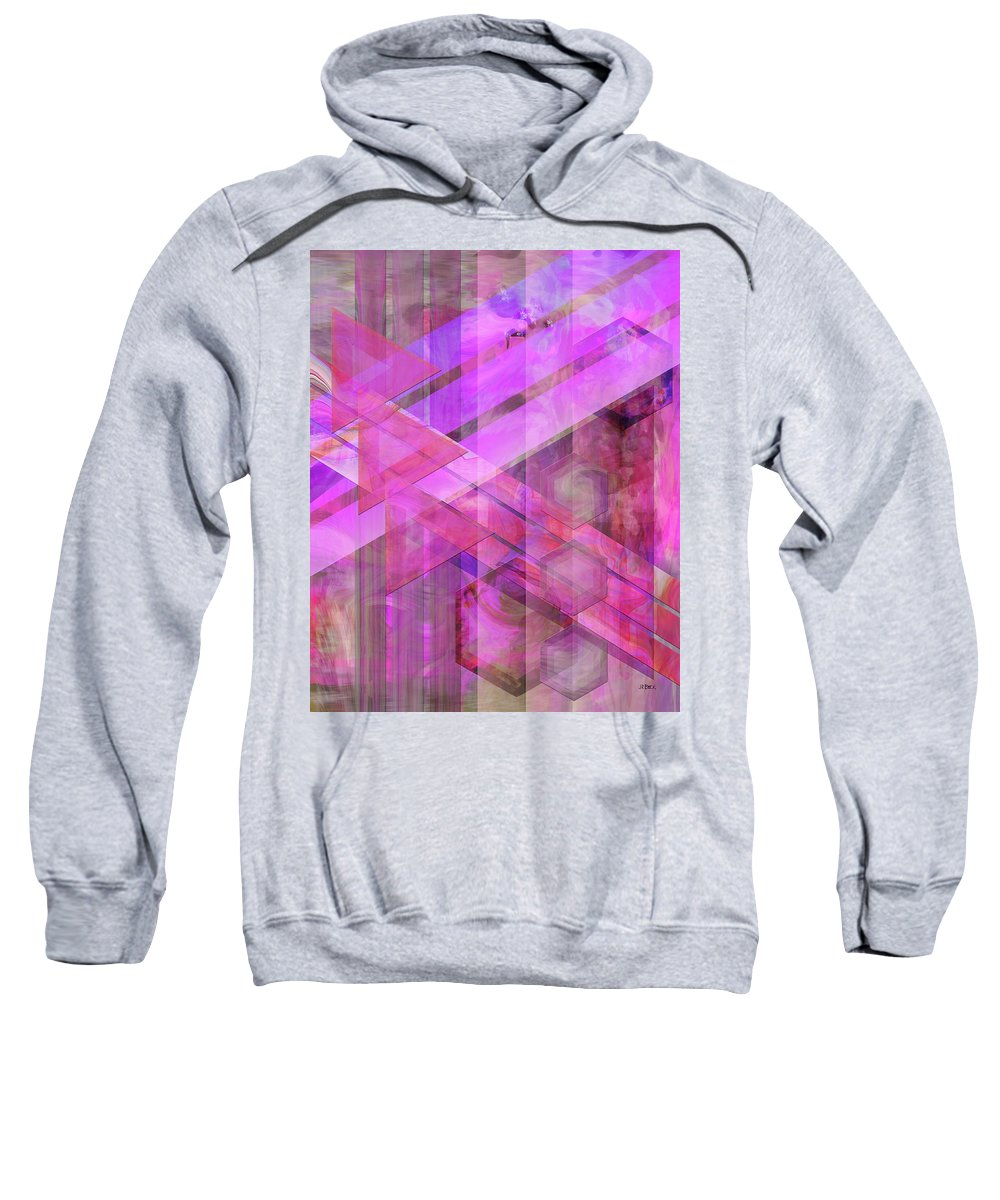 Magenta Haze Sweatshirt featuring the digital art Magenta Haze by John Robert Beck