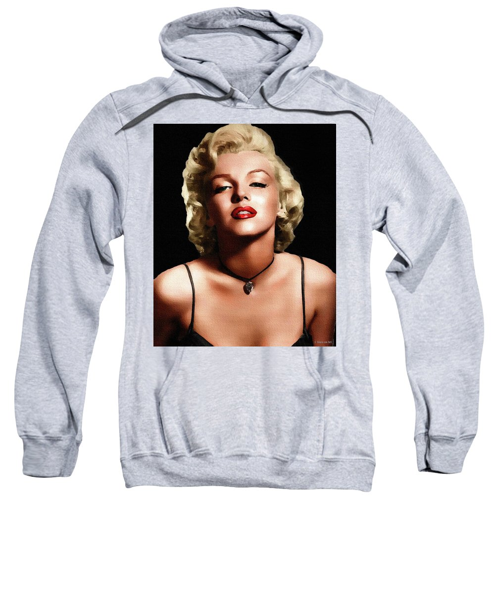 Marilyn Sweatshirt featuring the painting Marilyn Monroe 3 by Stars on Art