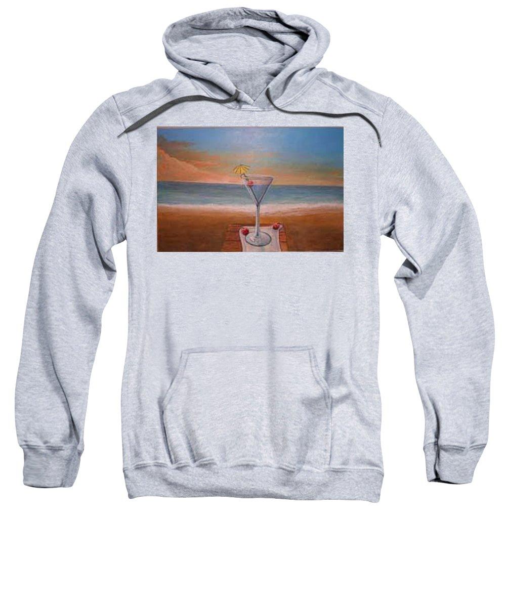Rick Huotari Sweatshirt featuring the painting Martini In Door County by Rick Huotari