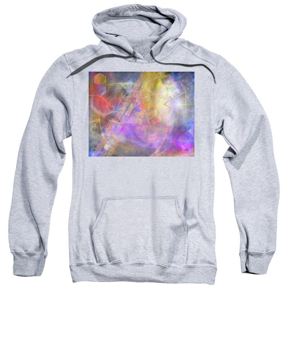Morning Star Sweatshirt featuring the digital art Morning Star by John Robert Beck