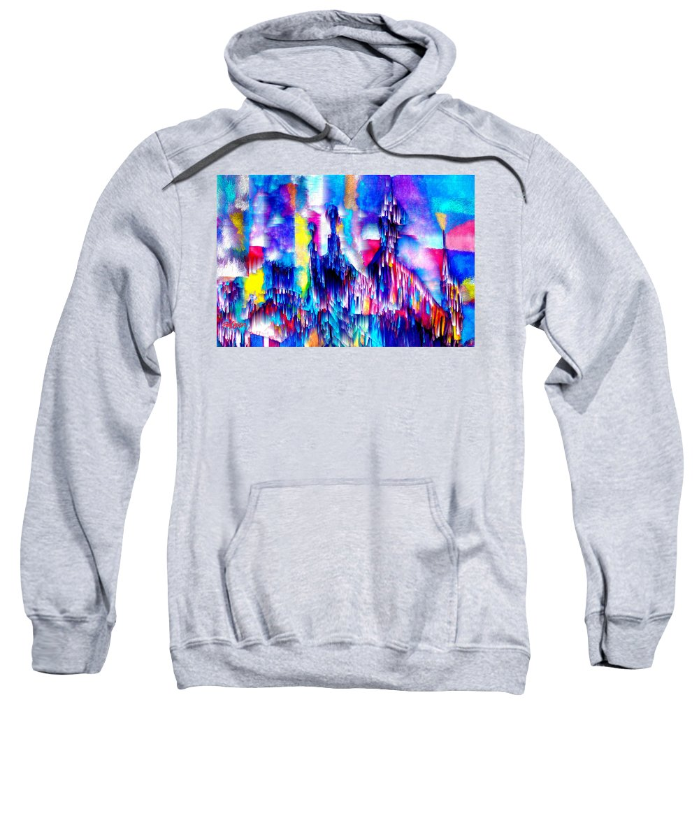 City Lights Sweatshirt featuring the mixed media Music of the City by Seth Weaver