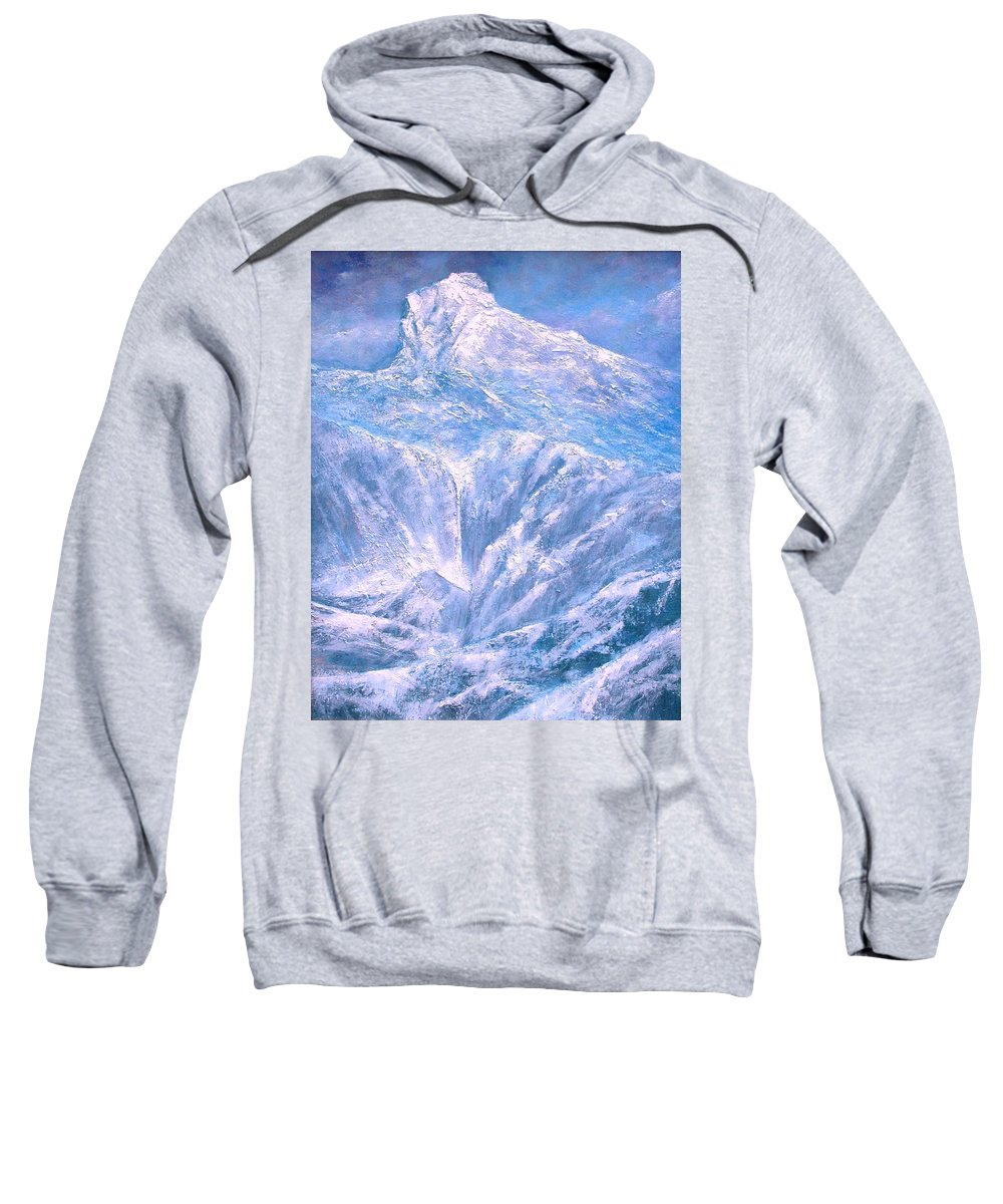 Landscape Sweatshirt featuring the painting Near the Tetons by Jim Gola