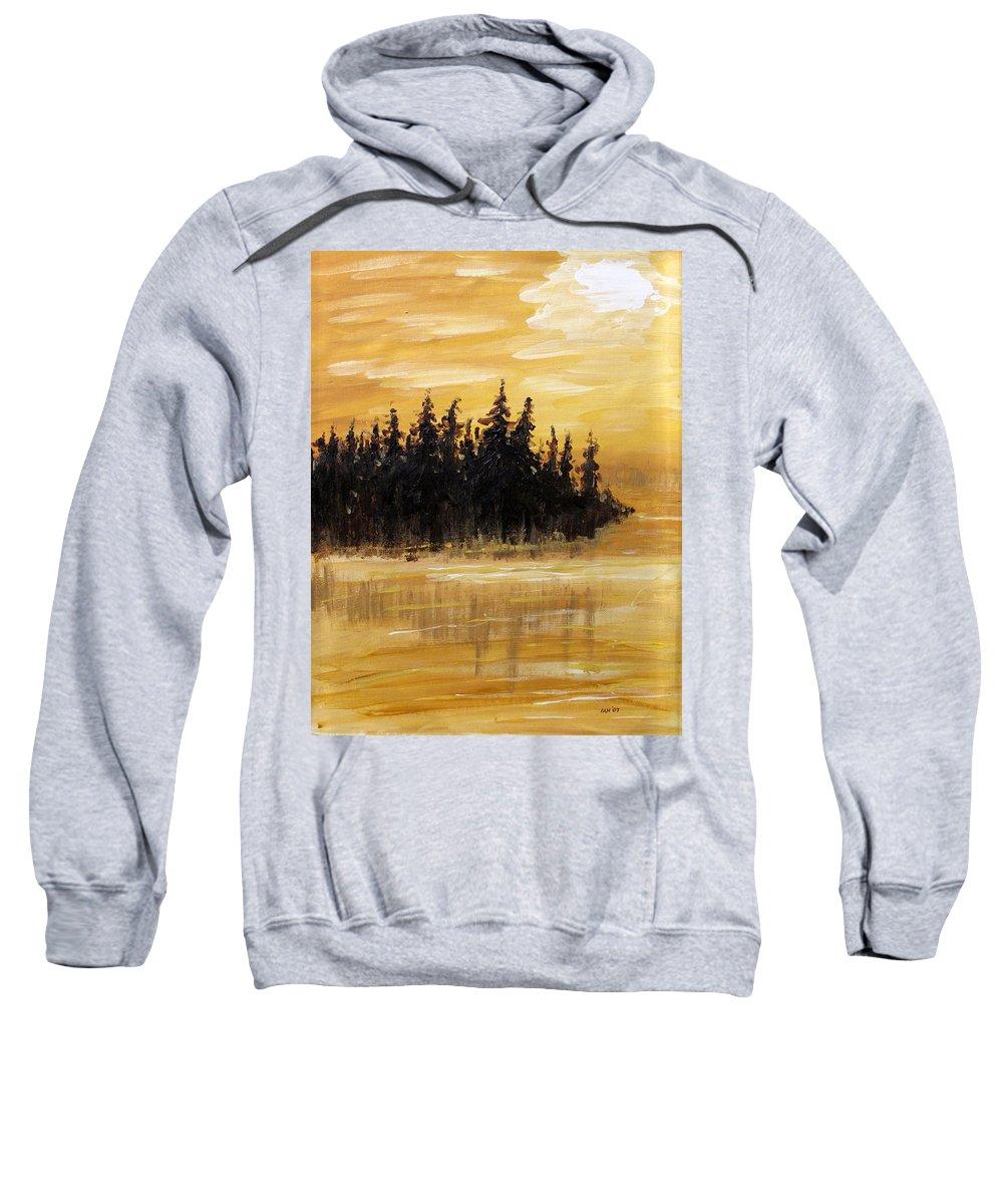 Northern Ontario Sweatshirt featuring the painting Northern Ontario One by Ian MacDonald