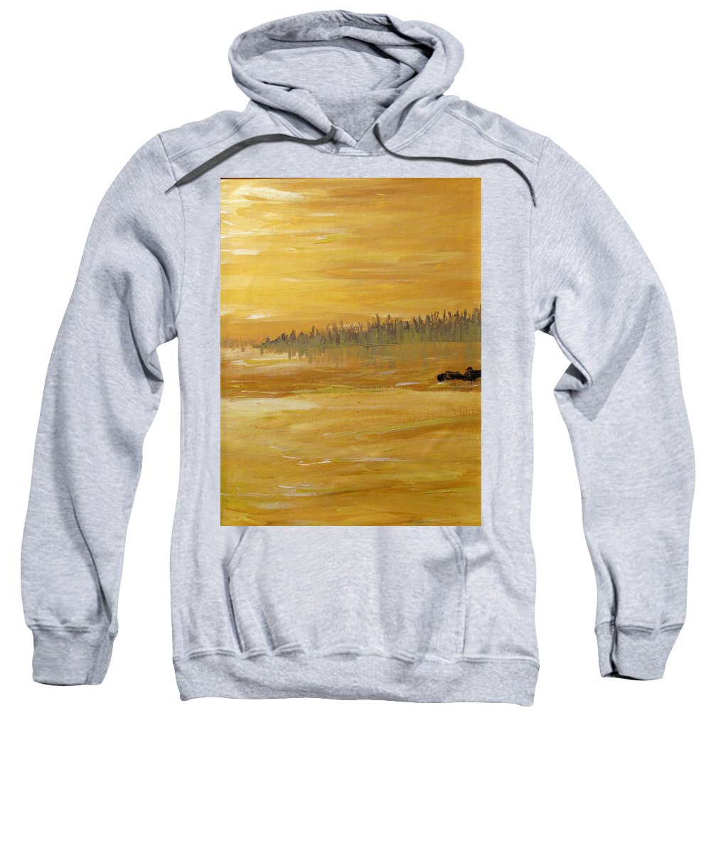 Northern Ontario Sweatshirt featuring the painting Northern Ontario Two by Ian MacDonald