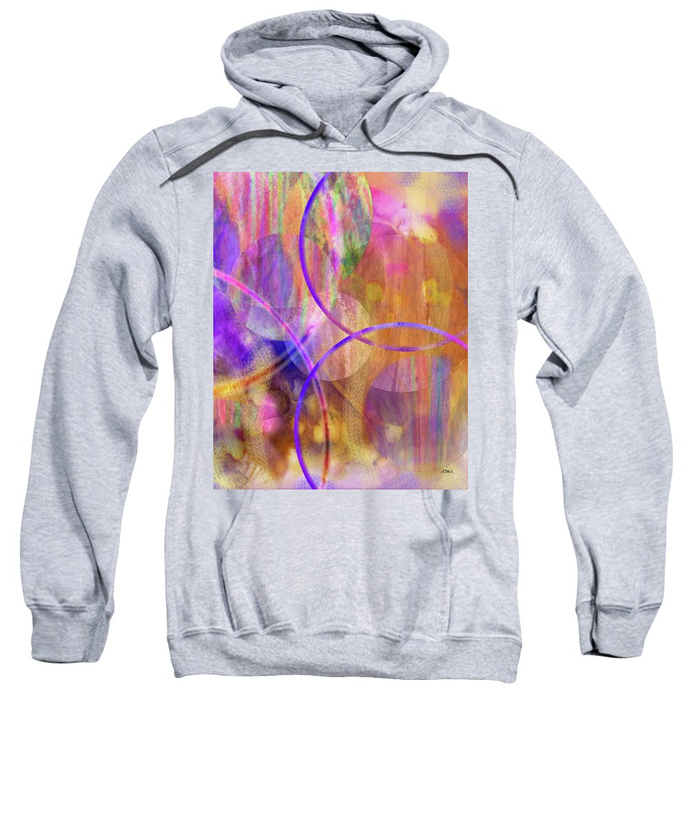 Pastel Planets Sweatshirt featuring the digital art Pastel Planets by John Robert Beck