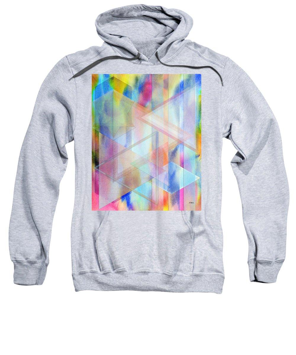 Pastoral Moment Sweatshirt featuring the digital art Pastoral Moment by John Robert Beck