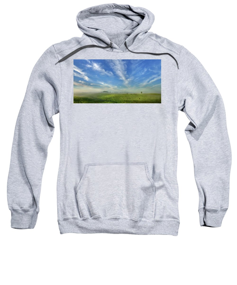 Bison Sweatshirt featuring the photograph Prairie Bison Morning by Bruce Morrison