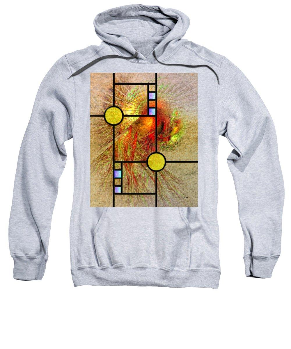 Prairie View Sweatshirt featuring the digital art Prairie View by Studio B Prints