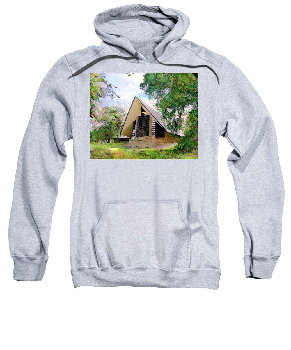 Praying Hands Sweatshirt featuring the digital art Praying Hands by John Robert Beck