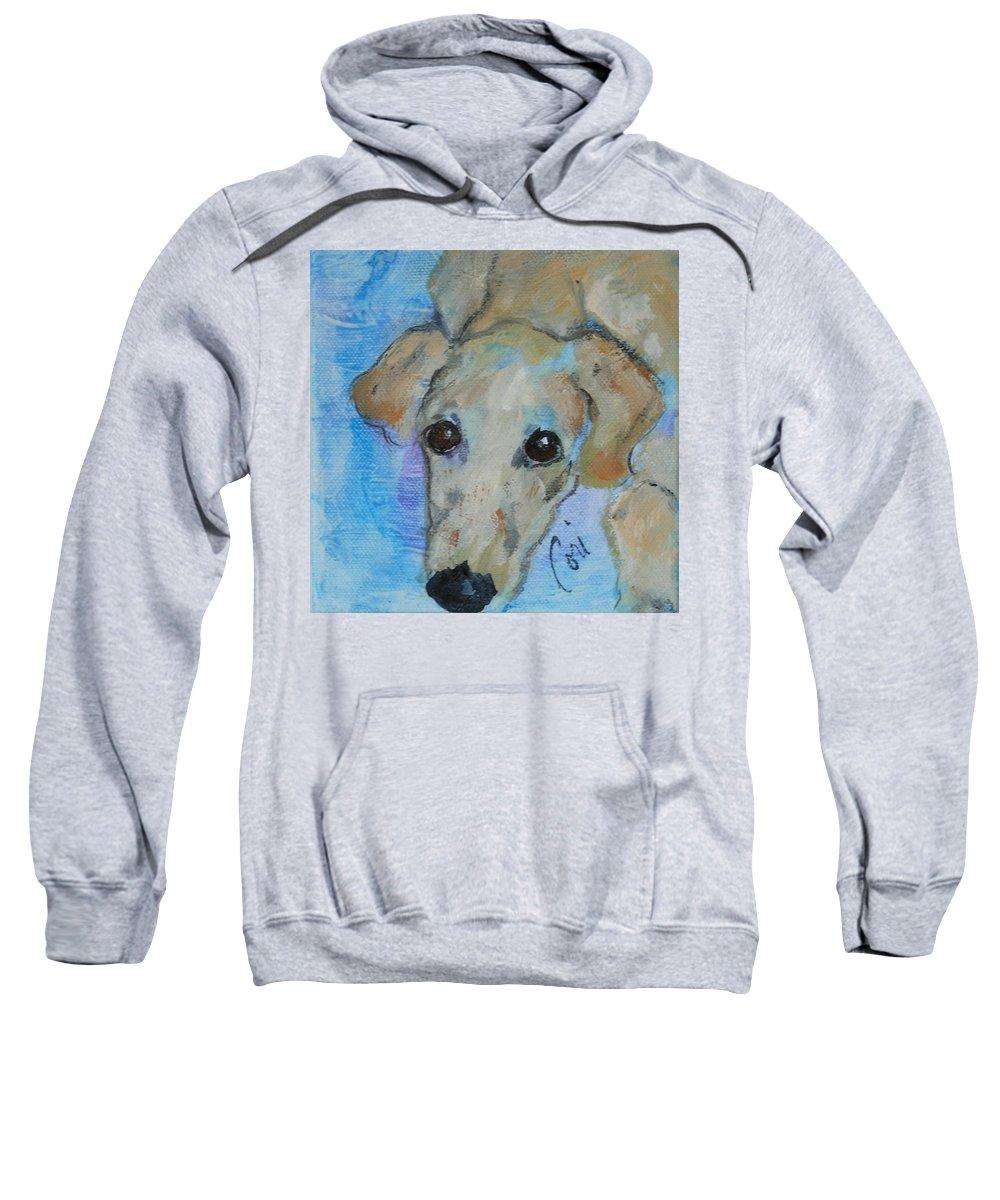 Acrylic Sweatshirt featuring the drawing Pupster by Cori Solomon