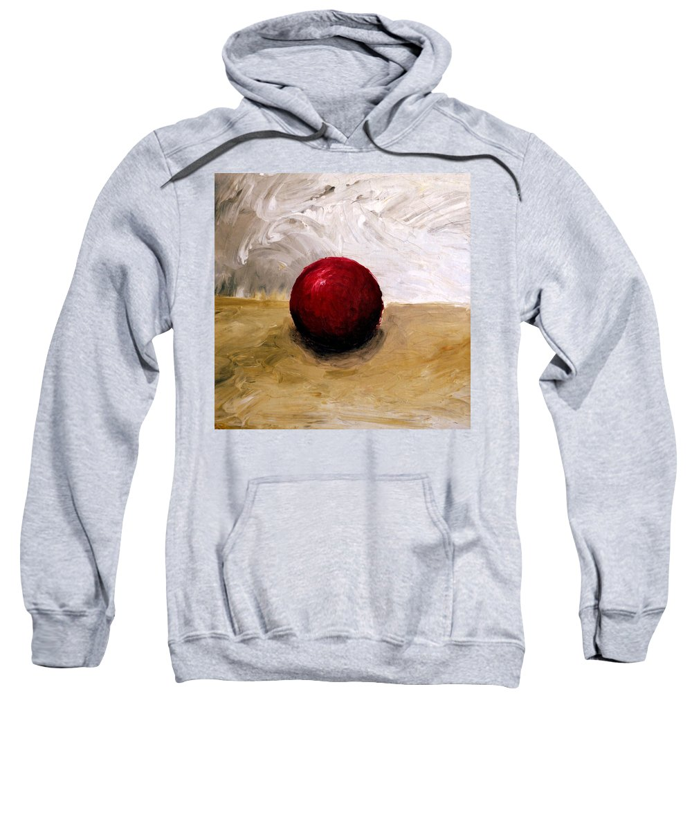 Red Sweatshirt featuring the painting Red Sphere by Michelle Calkins