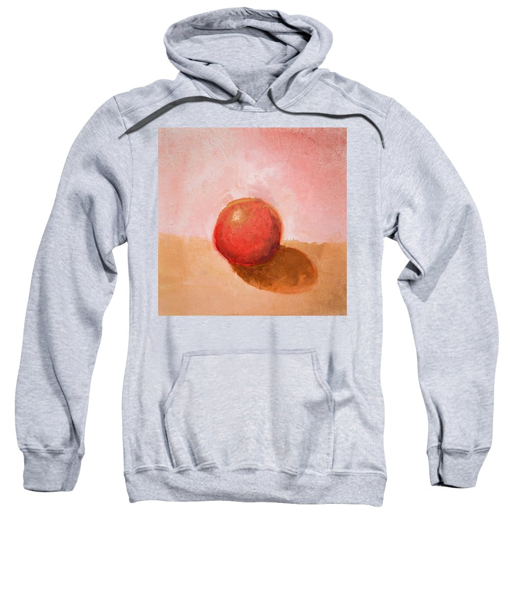 Spheres Sweatshirt featuring the painting Red Sphere Still Life by Michelle Calkins