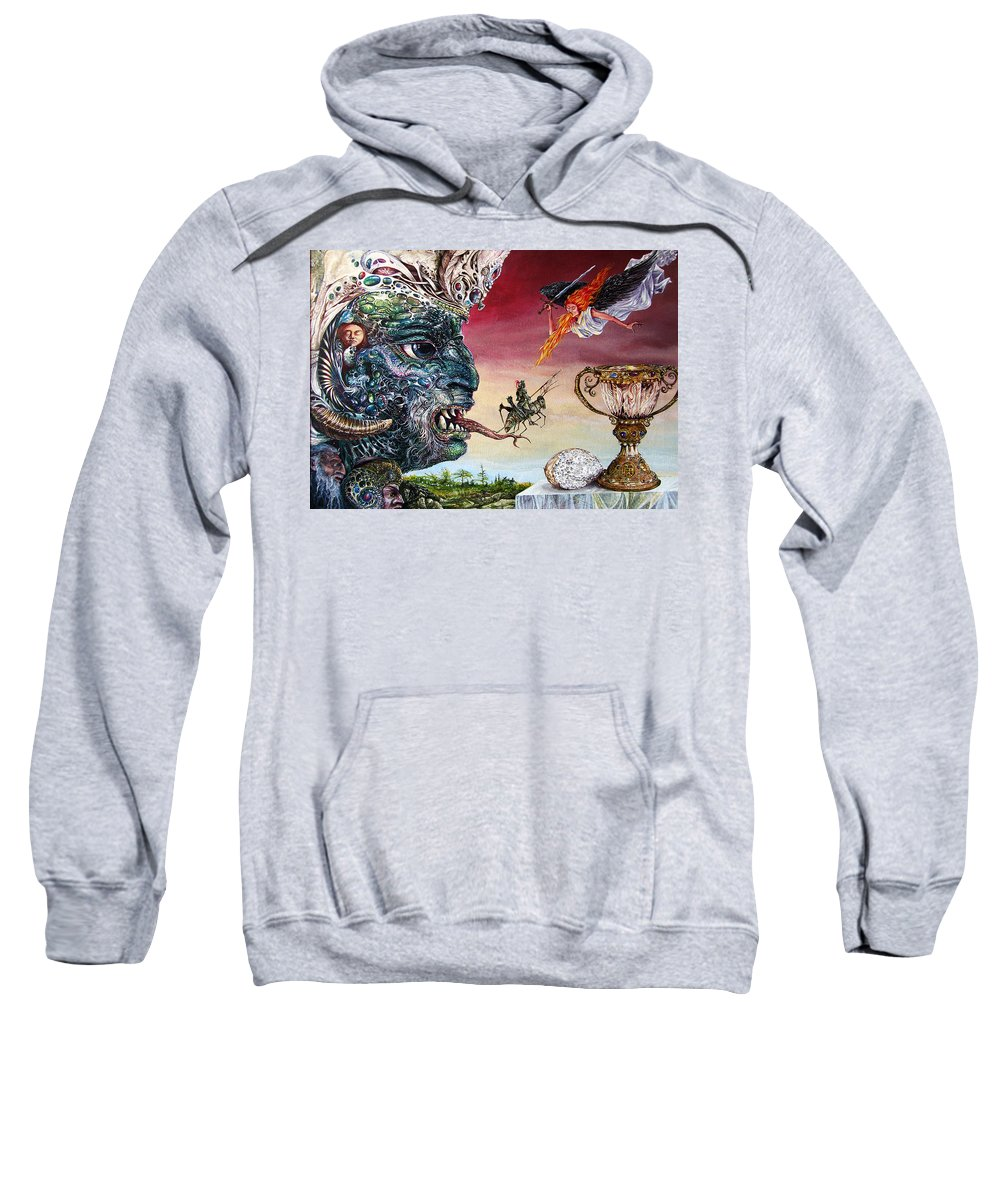 Surrealism Sweatshirt featuring the painting Revelation 20 by Otto Rapp