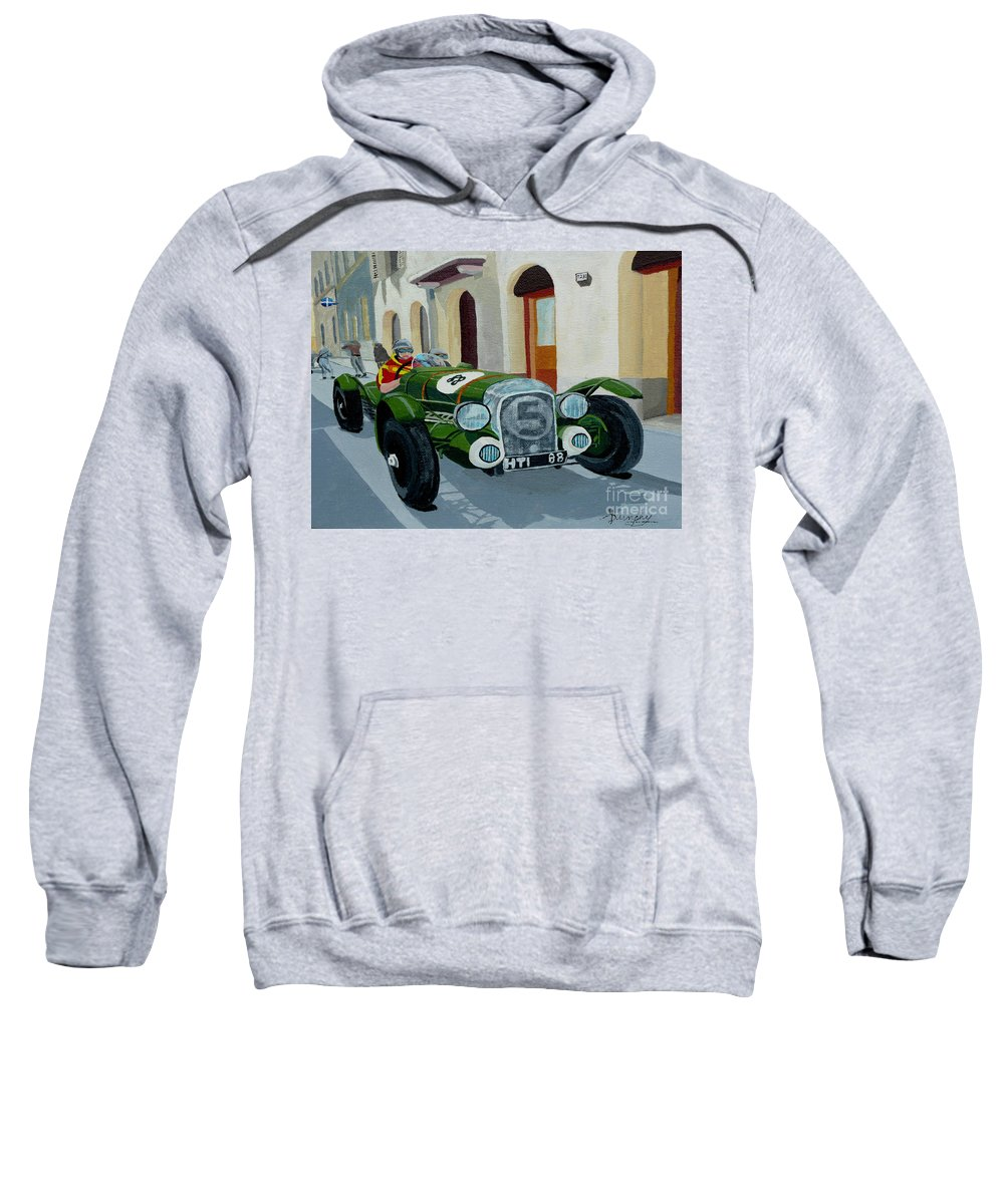 Car Sweatshirt featuring the painting Road Rally by Anthony Dunphy