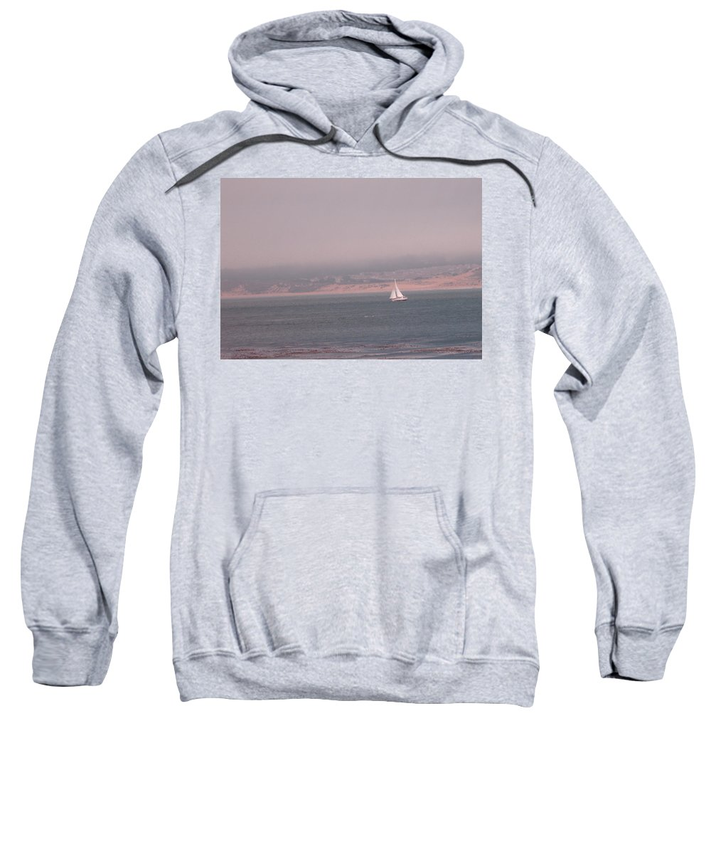 Sailing Solo Sweatshirt featuring the photograph Sailing Solo by Pharris Art