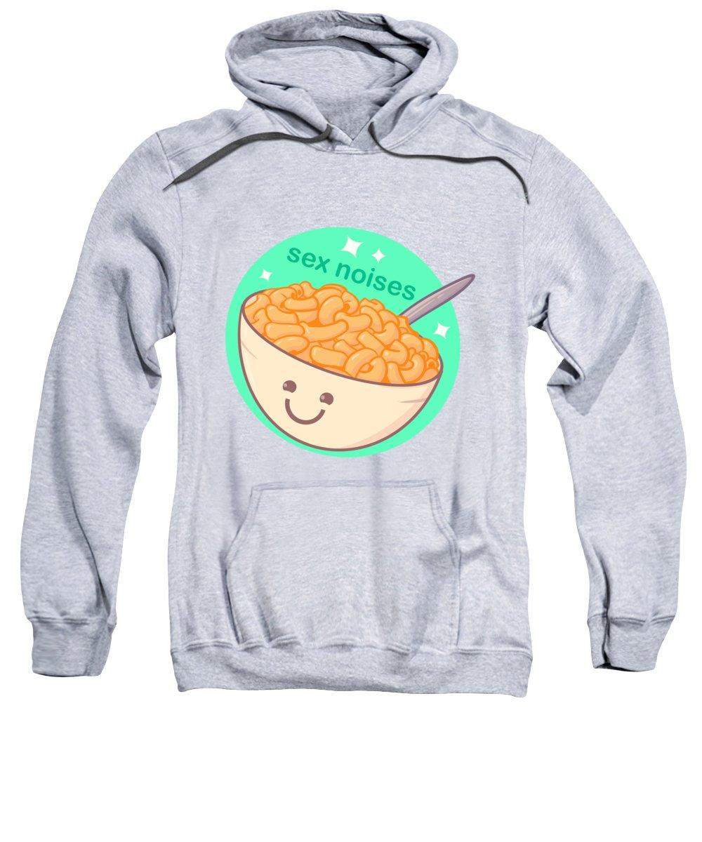Macaroni Sweatshirt featuring the drawing Sex Noises by Ludwig Van Bacon