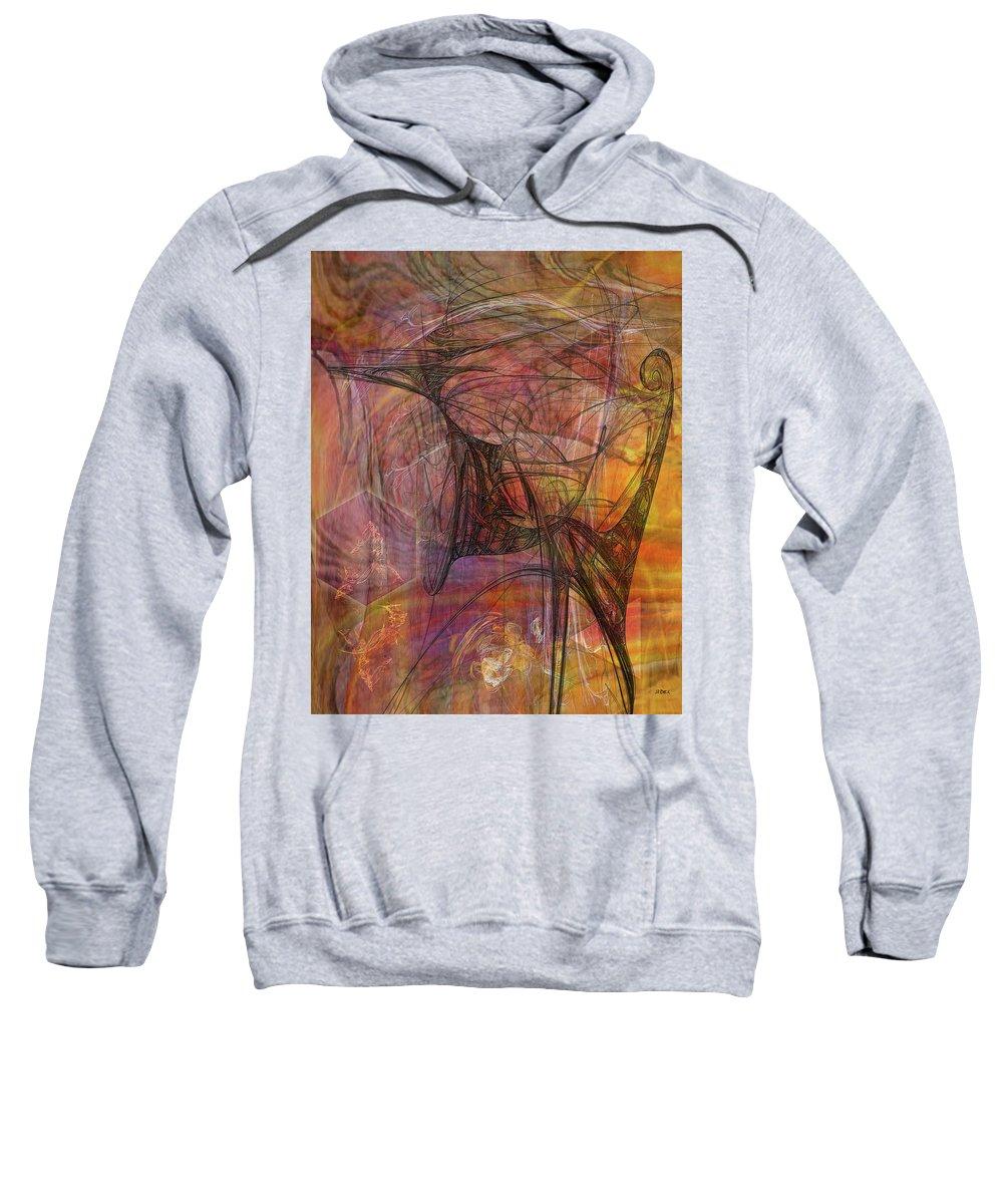 Shadow Dragon Sweatshirt featuring the digital art Shadow Dragon by John Robert Beck