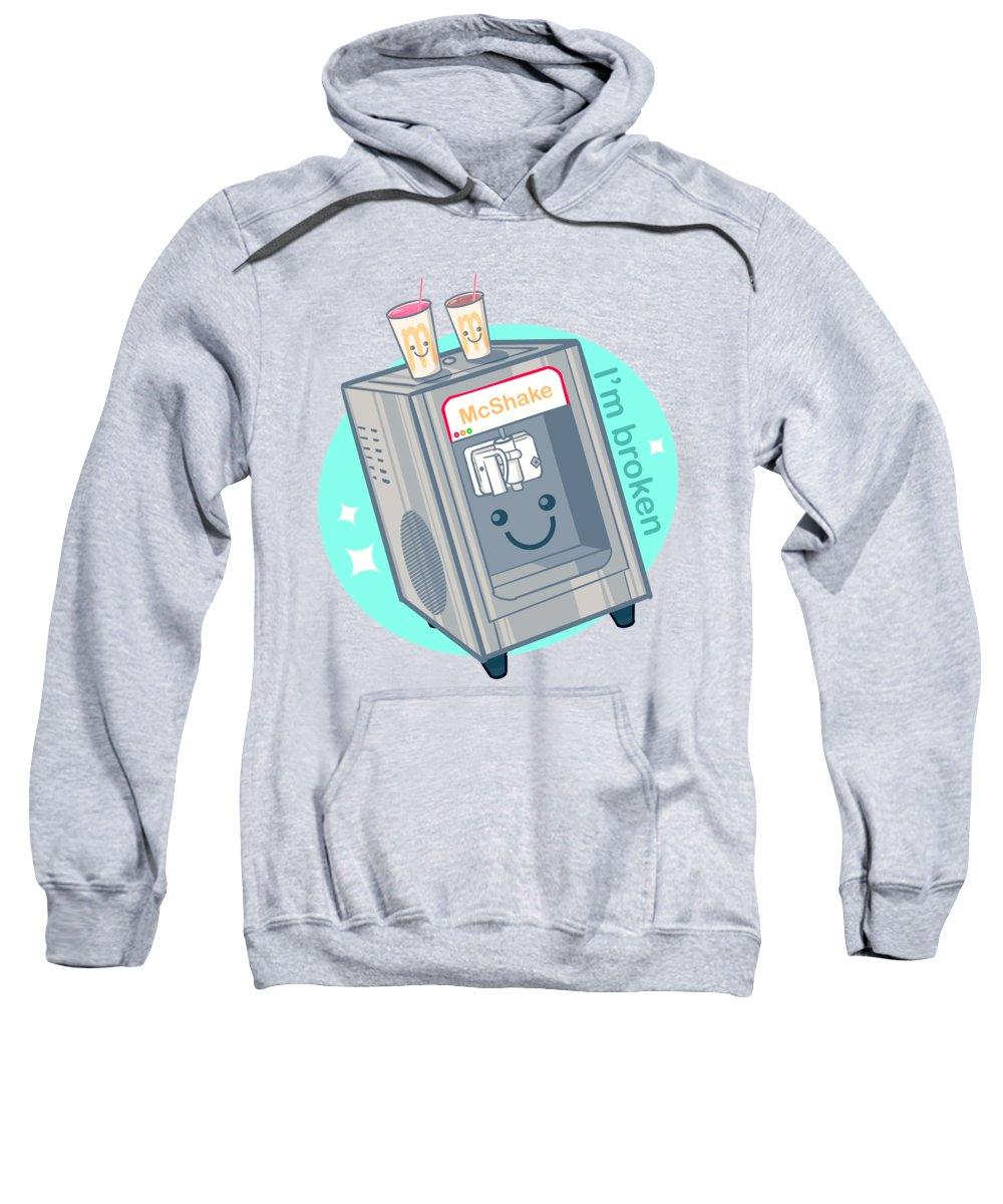Milkshake Sweatshirt featuring the drawing Shake Machine by Ludwig Van Bacon