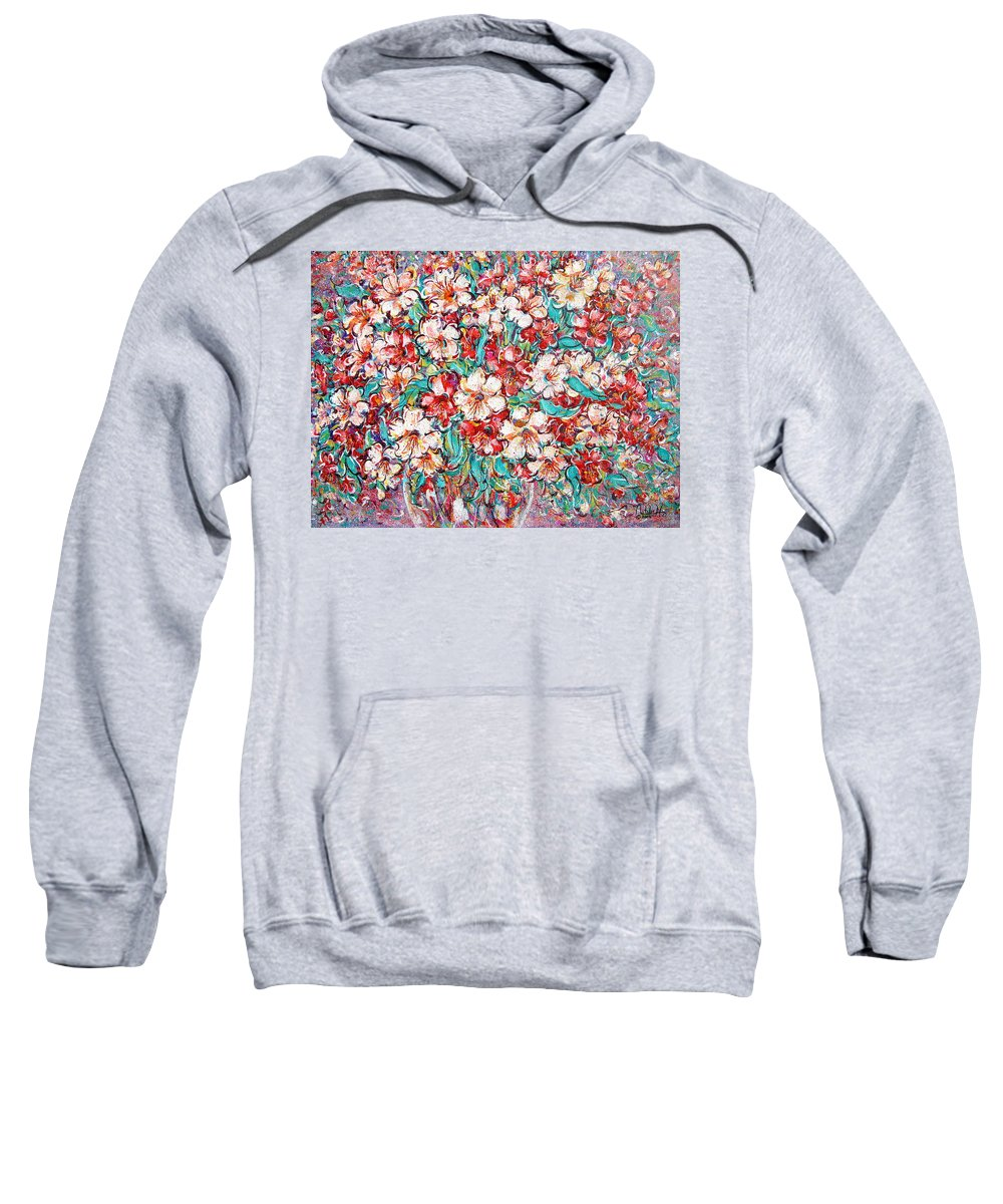 Flowers Sweatshirt featuring the painting Shakespeare Scents by Natalie Holland