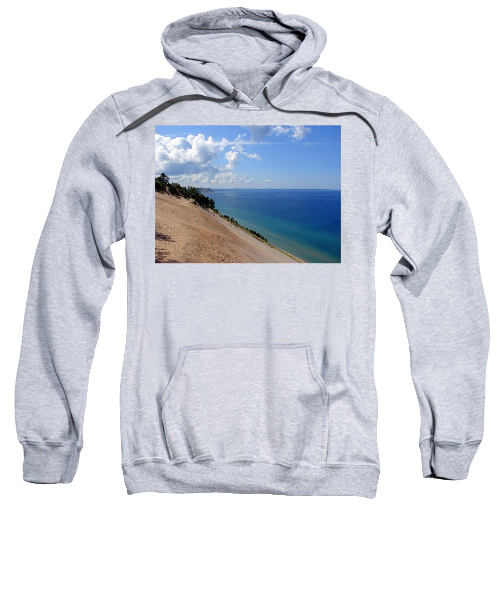 Sleeping Bear Dunes Sweatshirt featuring the photograph Sleeping Bear Dunes National Lakeshore Michigan by Michelle Calkins