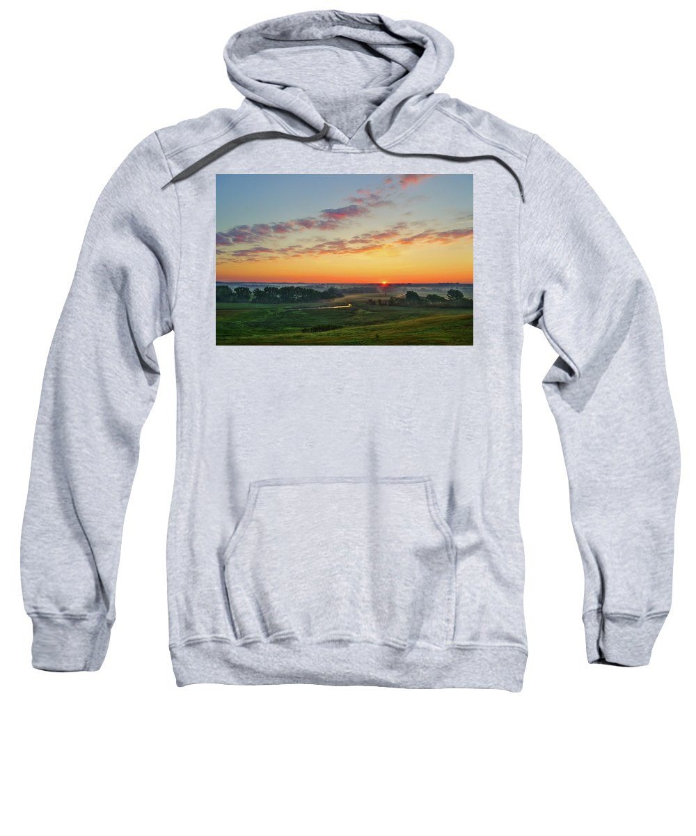 Sunrise Sweatshirt featuring the photograph Sunrise From O'Brien No.1 by Bruce Morrison
