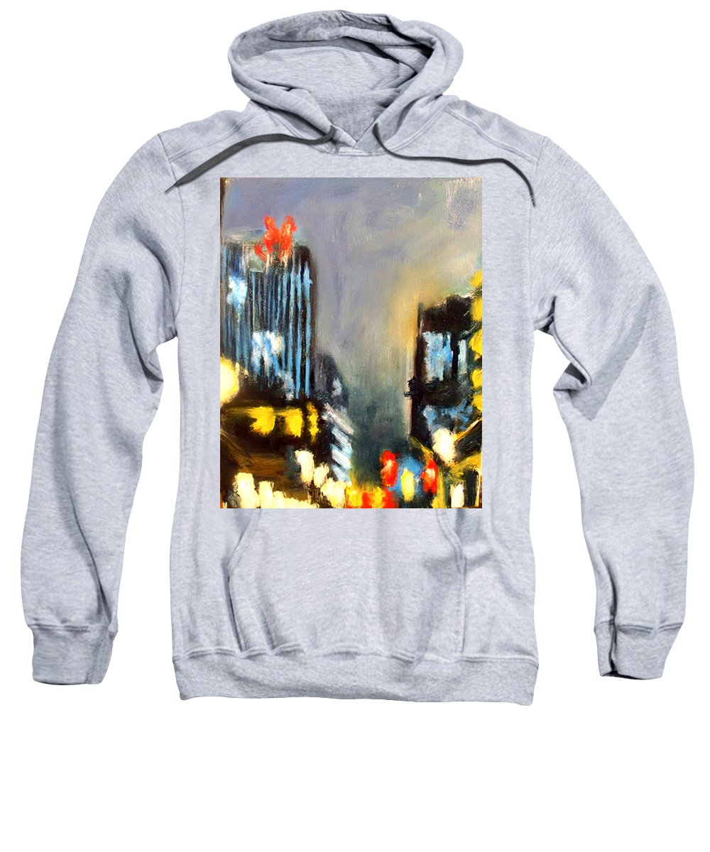 Sweatshirt featuring the painting Untitled II - Des Moines by Robert Reeves