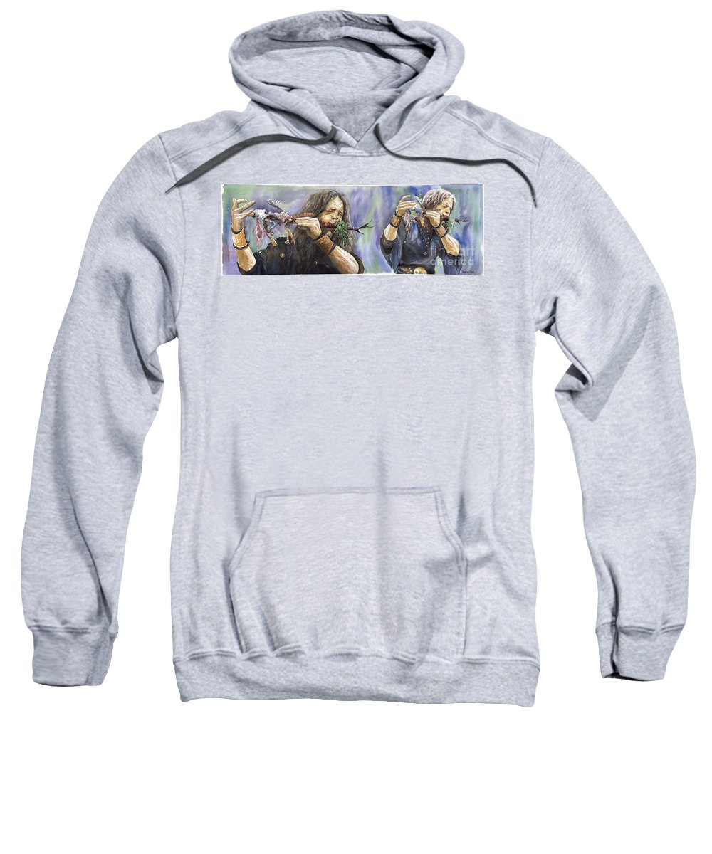 Watercolor Sweatshirt featuring the painting Varius Coloribus The Morning Song by Yuriy Shevchuk