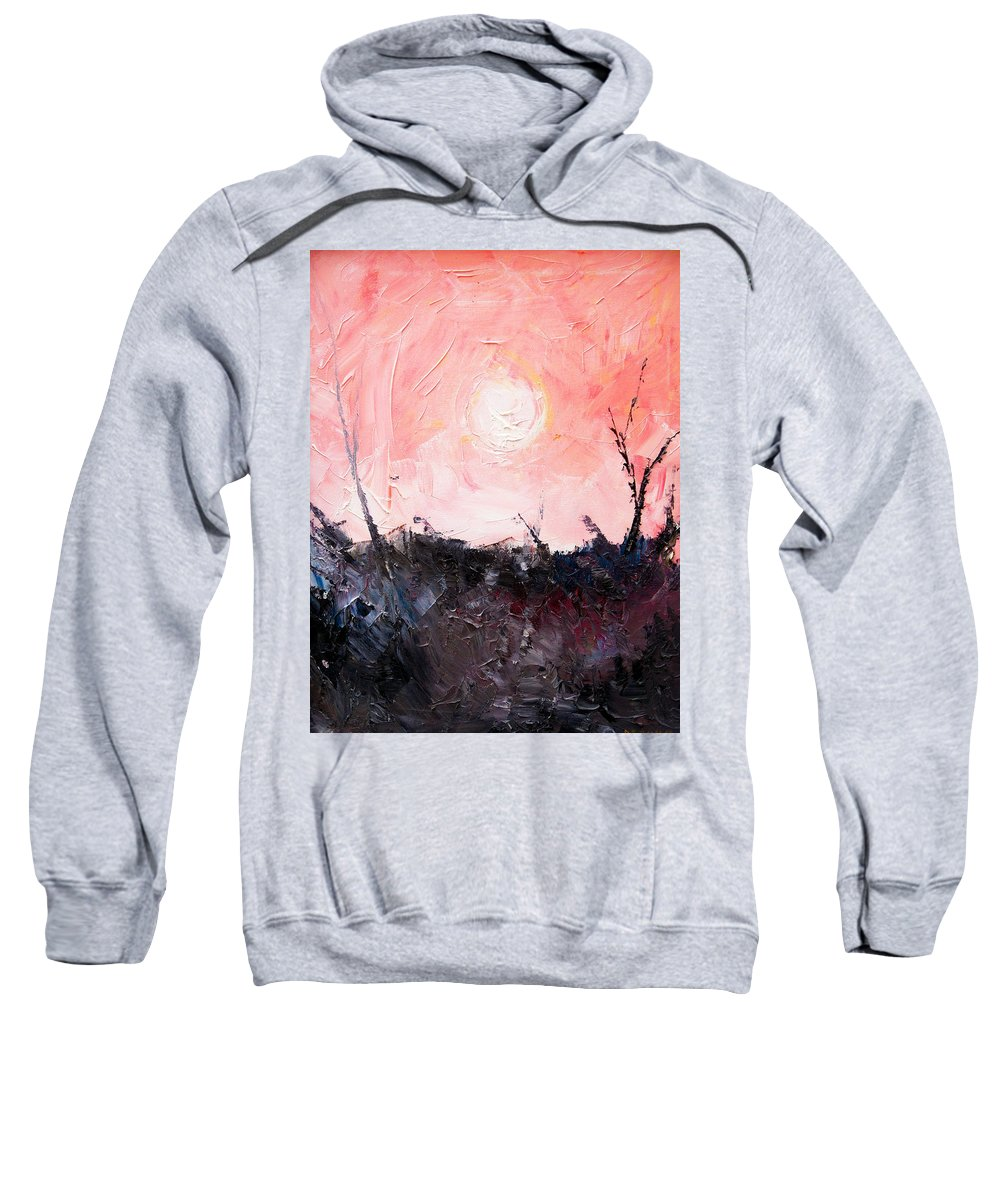 Duck Sweatshirt featuring the painting White Sun by Sergey Bezhinets