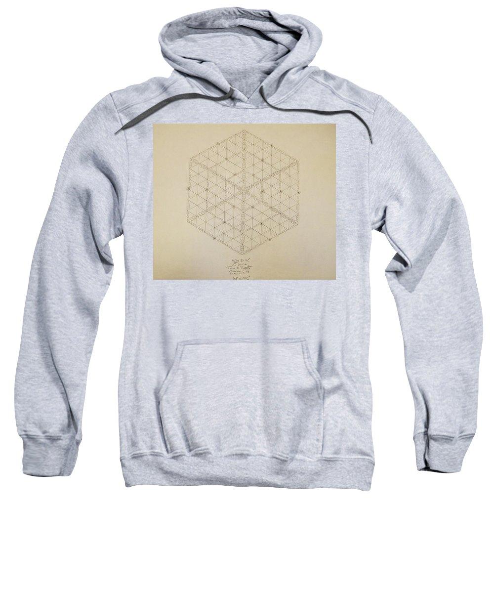 E=mc2 Sweatshirt featuring the drawing Why E equals MC2 by Jason Padgett