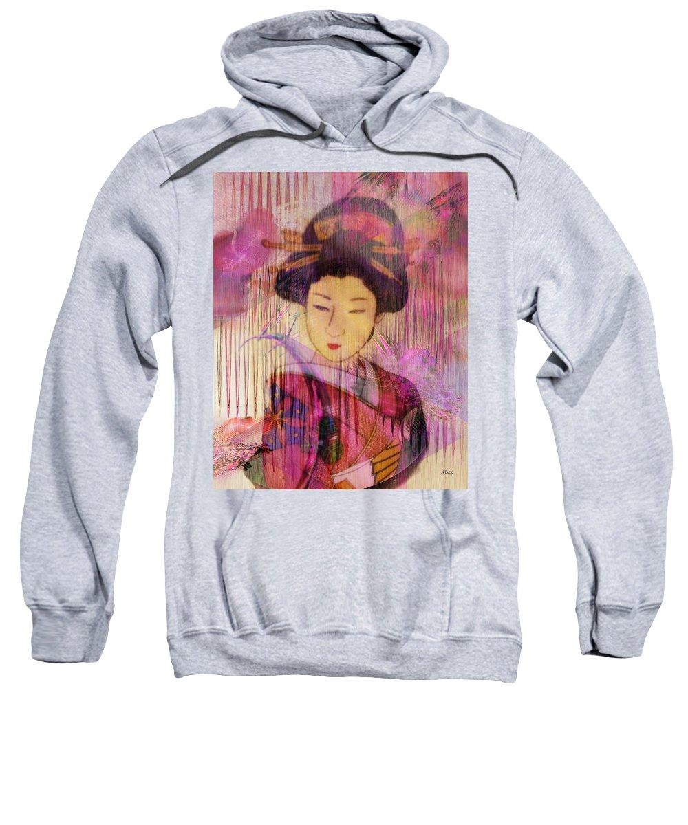 Willow World Sweatshirt featuring the digital art Willow World by John Robert Beck