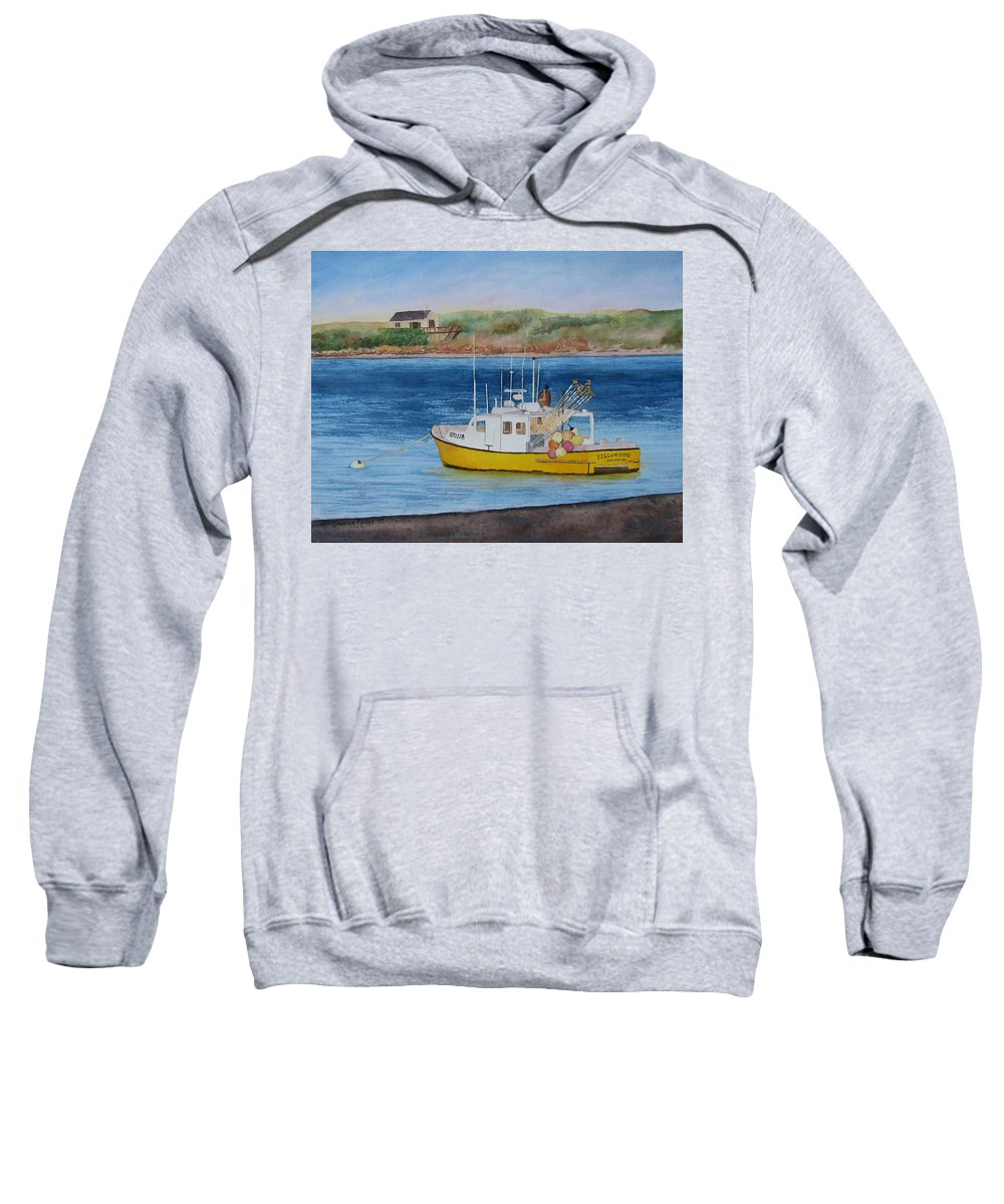 Landscape Sweatshirt featuring the painting Yellow Bird by Sharon Farber