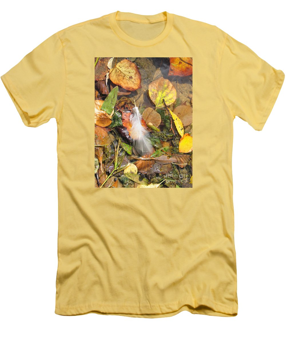 Autumn Men's T-Shirt (Athletic Fit) featuring the photograph Autumn Leavings by Ann Horn