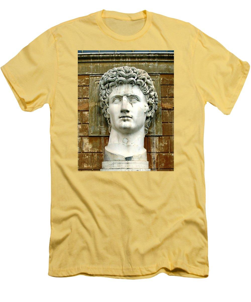 Caesar Augustus Men's T-Shirt (Athletic Fit) featuring the photograph Caesar Augustus by Ellen Henneke