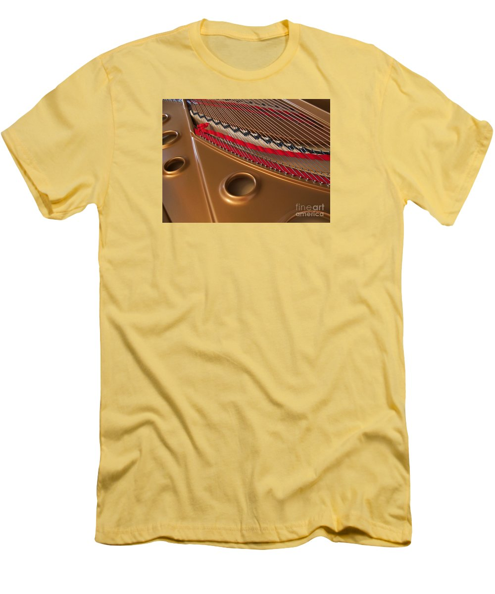 Piano Men's T-Shirt (Athletic Fit) featuring the photograph Concert Grand by Ann Horn