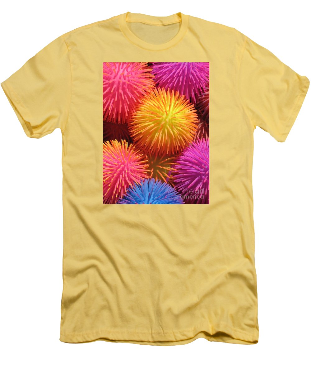 Abstract Men's T-Shirt (Athletic Fit) featuring the photograph Dazzlers by Ann Horn