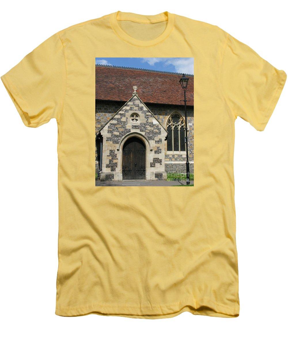 Church Men's T-Shirt (Athletic Fit) featuring the photograph Faithful by Ann Horn