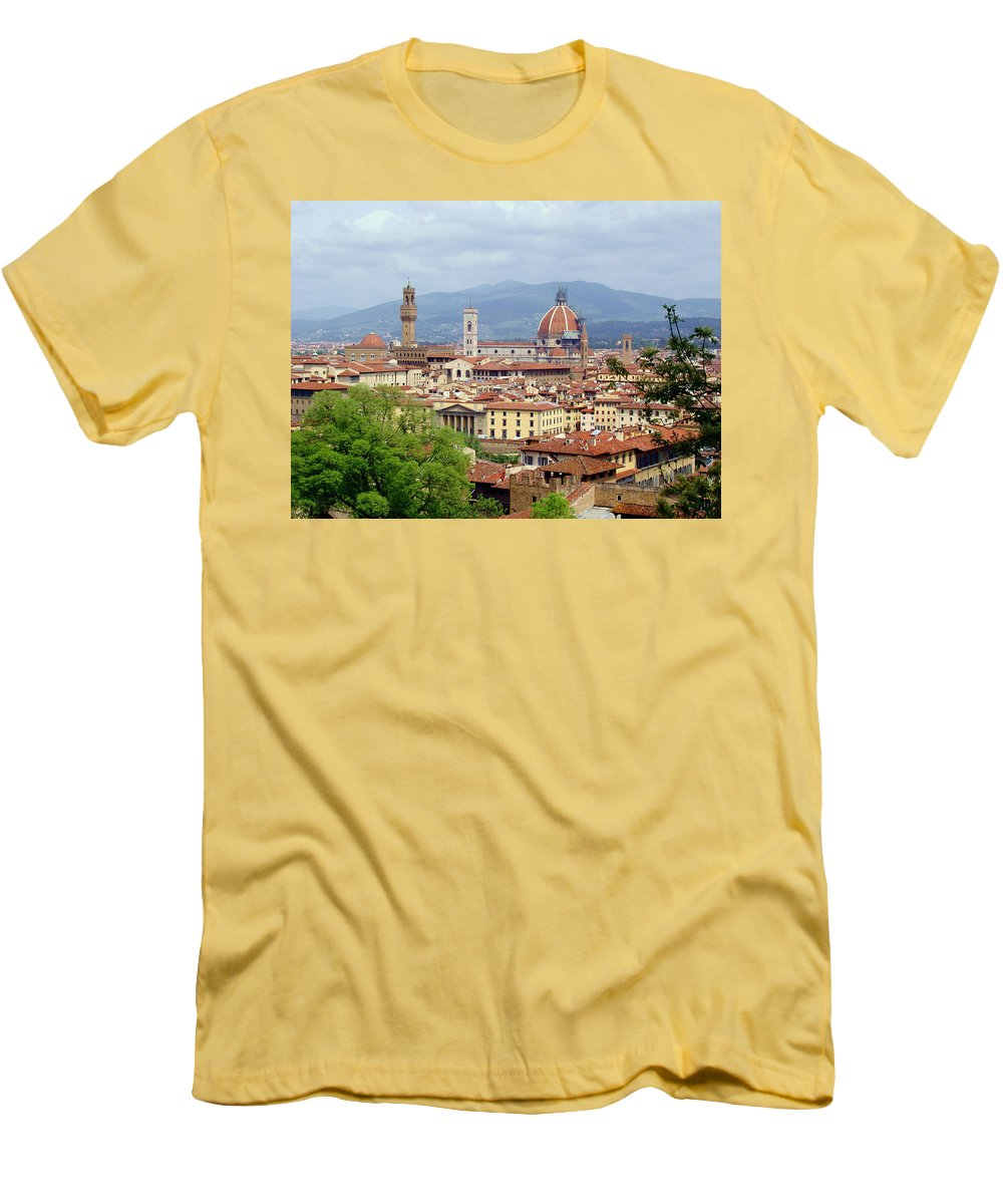 Florence Men's T-Shirt (Athletic Fit) featuring the photograph Florence by Ellen Henneke