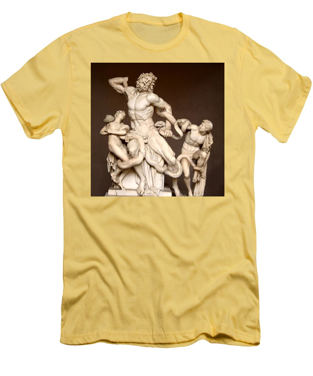 Laocoon And Sons Men's T-Shirt (Athletic Fit) featuring the photograph Laocoon And Sons by Ellen Henneke