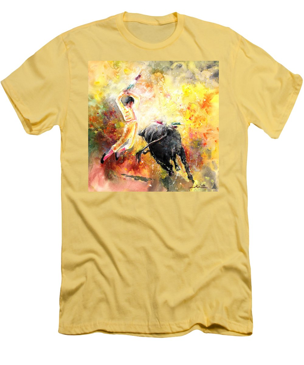 Animals Men's T-Shirt (Athletic Fit) featuring the painting Lightning Strikes by Miki De Goodaboom