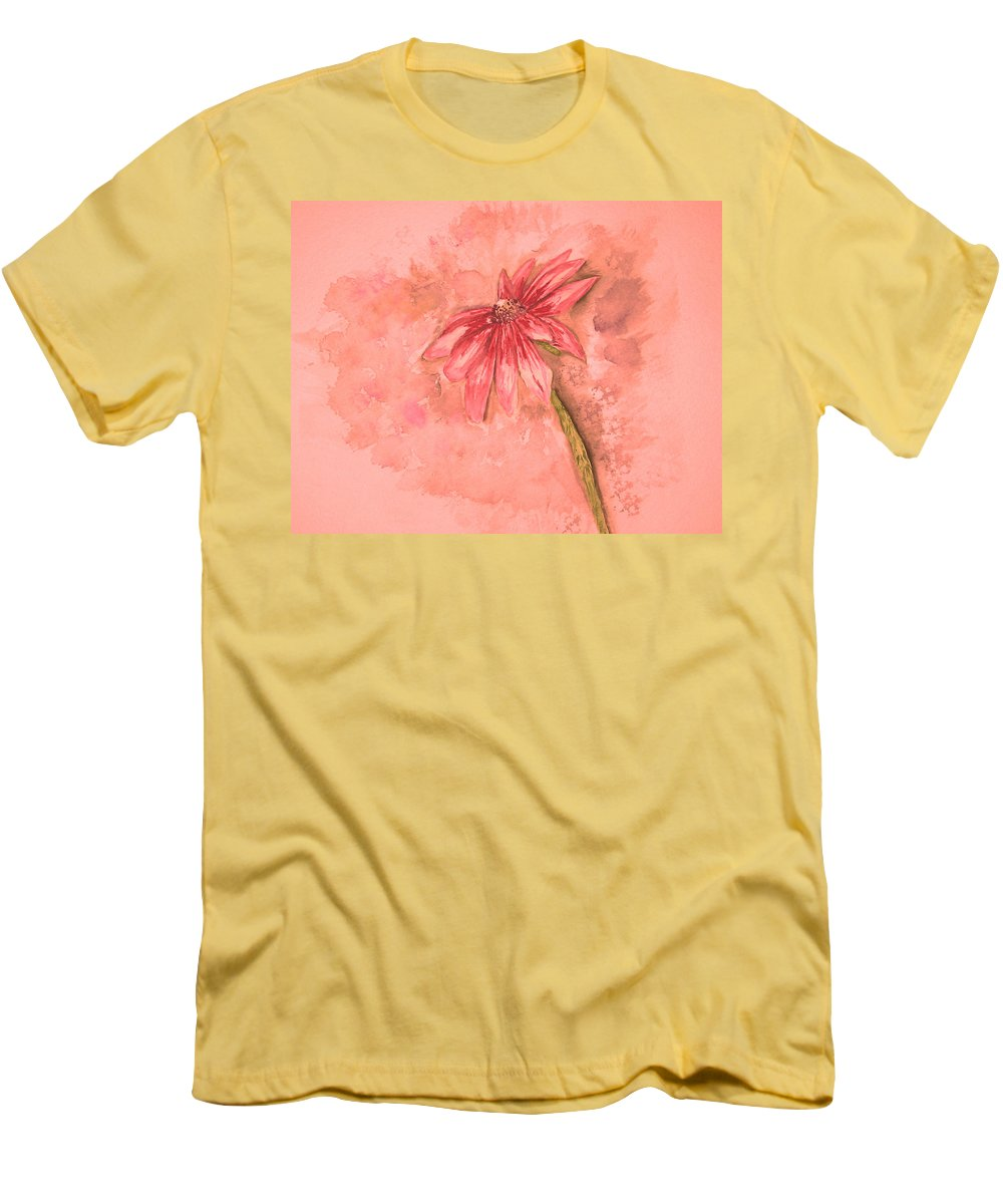Watercolor Men's T-Shirt (Athletic Fit) featuring the painting Melancholoy by Crystal Hubbard
